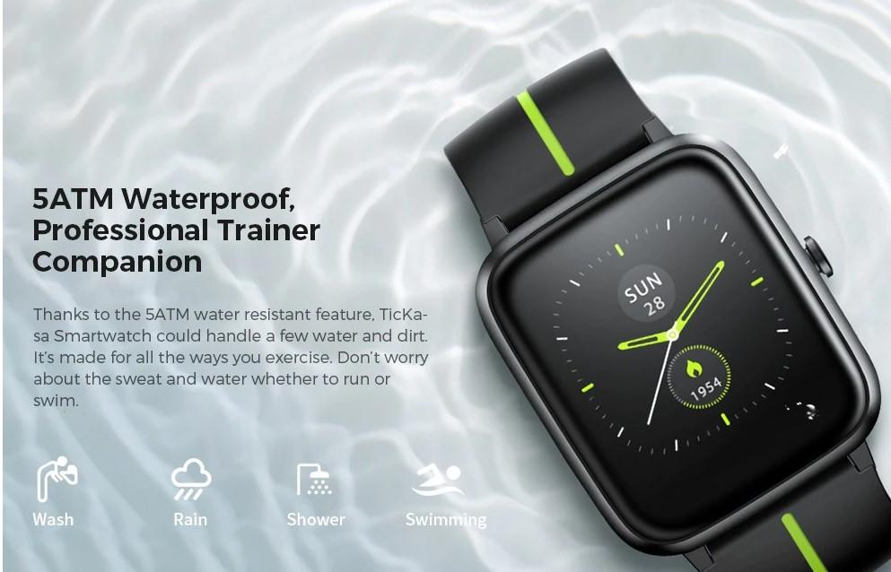 TicKasa is a waterproof smartwatch