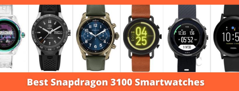 Snapdragon 3100 smartwatches
