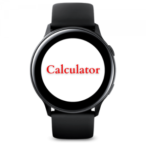 Calculator App for Galaxy Watches