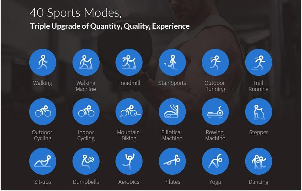 sports mode in Kospet 2S Smartwatch