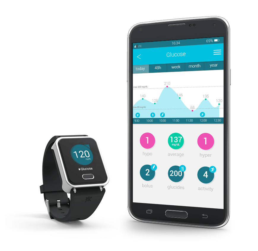 K'Watch Glucose with Mobile App sync