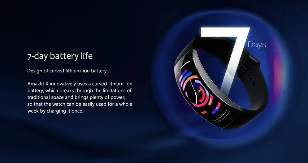 Amazfit X Battery Life