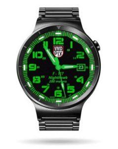Luminox Nighthawk Green watch face